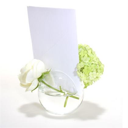 Vase porte menu