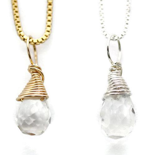 Quartz Crystal Birthstone Necklace