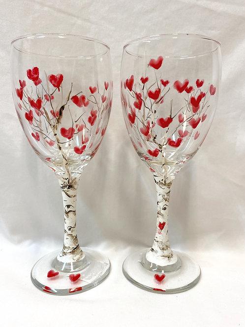 Heart Wine Glasses