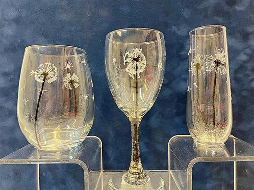 Dandelion Themed Glasses