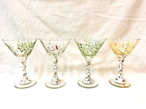 Seasonal Martini Glasses