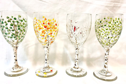 Seasonal Wine Glasses