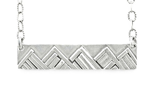 Sterling Silver Mountain Bar Necklace