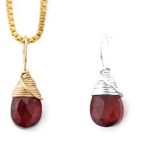 Garnet Birthstone Necklace