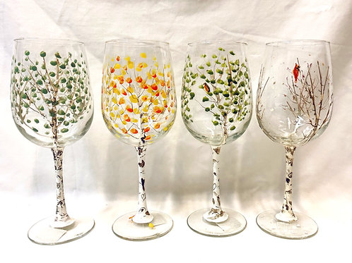 Seasonal Wine Glasses