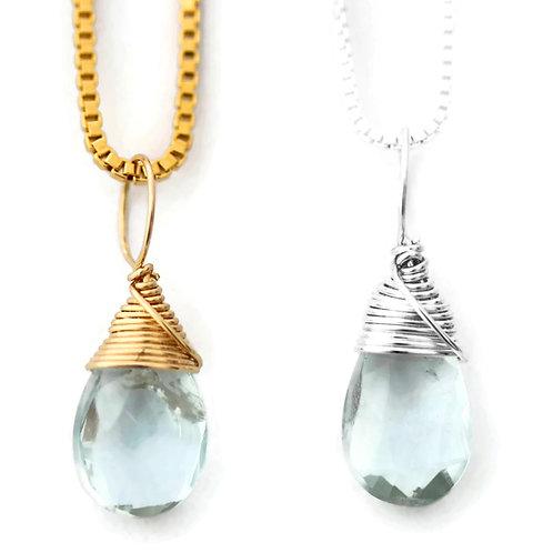 Aquamarine Birthstone Necklace