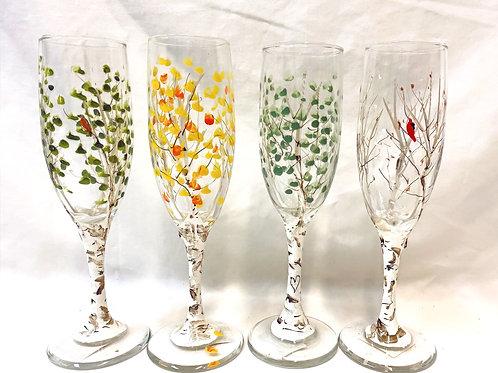 Seasonal Champagne Flutes