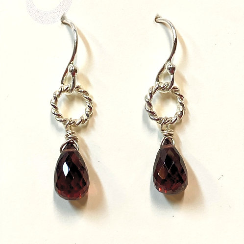 Garnet Briolette Earrings