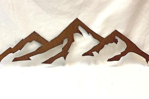 Metal Mountain Sculptures