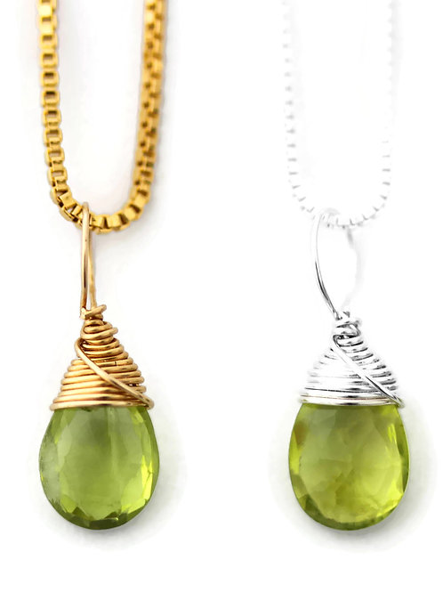 Peridot Birthstone Necklace