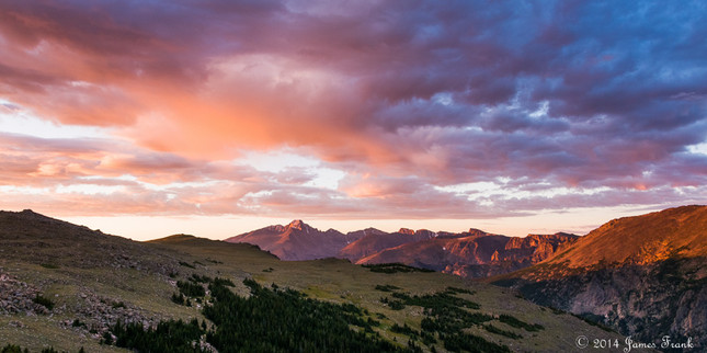Sunrise Blush over Tombstone Ridge