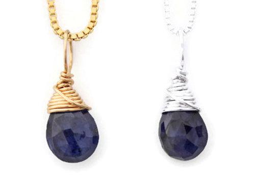 Sapphire Birthstone Necklace