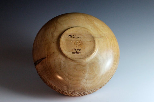 Turned Maple Bowl