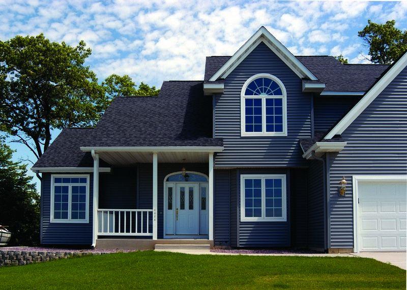 Дом с фасадом из винилового сайдинга