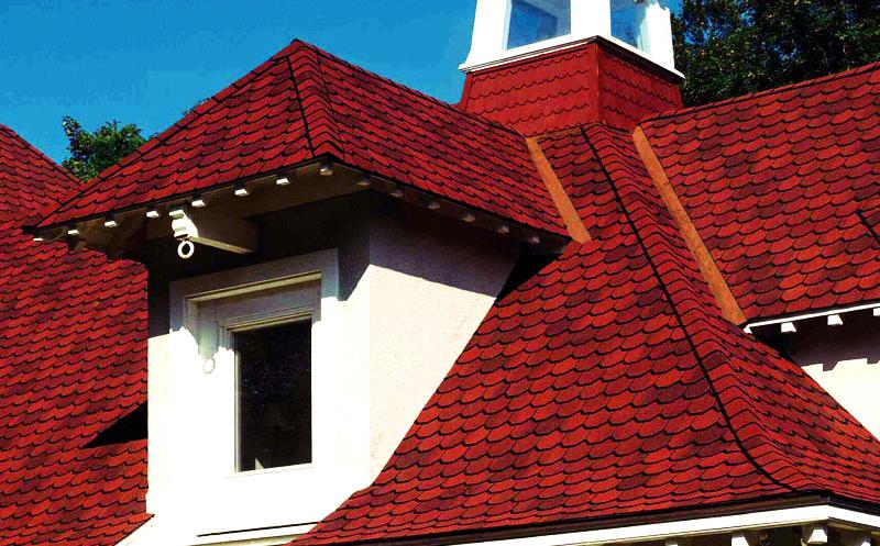 Крыша из мягкой черепицы