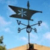 Флюгер на крышу GLORI ir Ko Фигурный-3 Флаг (черный и золотой)