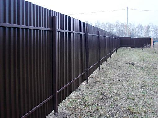 забор из профнастила, забор профнастил, металлический забор, забор из профнастила купить, столбы забор профнастил, поперечины столбы забор