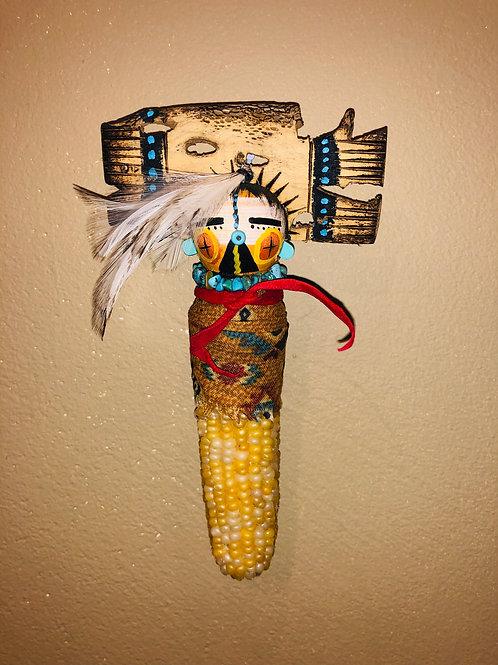 Corn Kachina with Cactus tableta / White Feathers