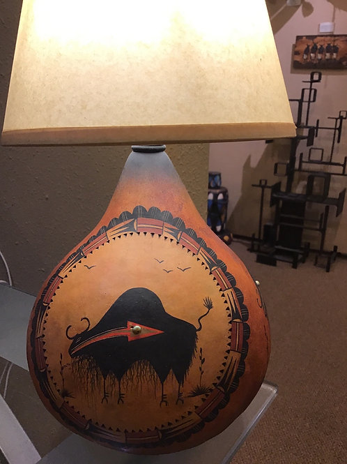 Small Mimbres Buffalo Lamp