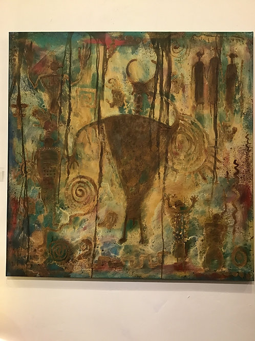 Buffalo Warrior On Canvas