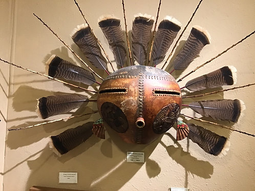 Large Gourd Mask w/Pottery Cheeks