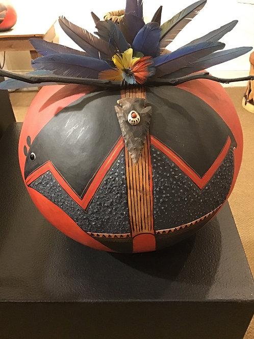 Red Fetish Bear Gourd Pot