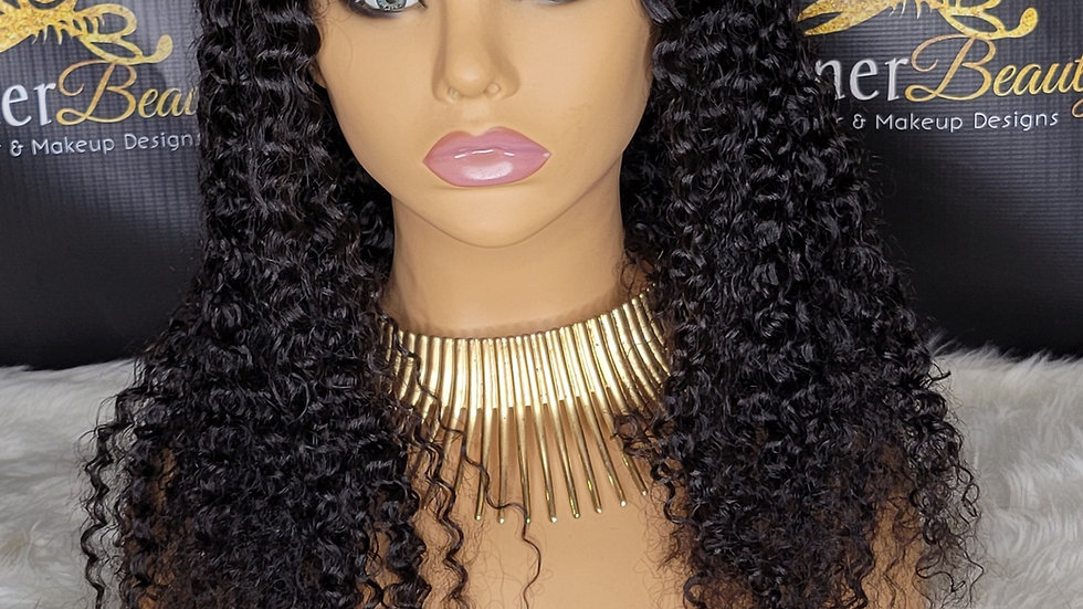 U part wig curly