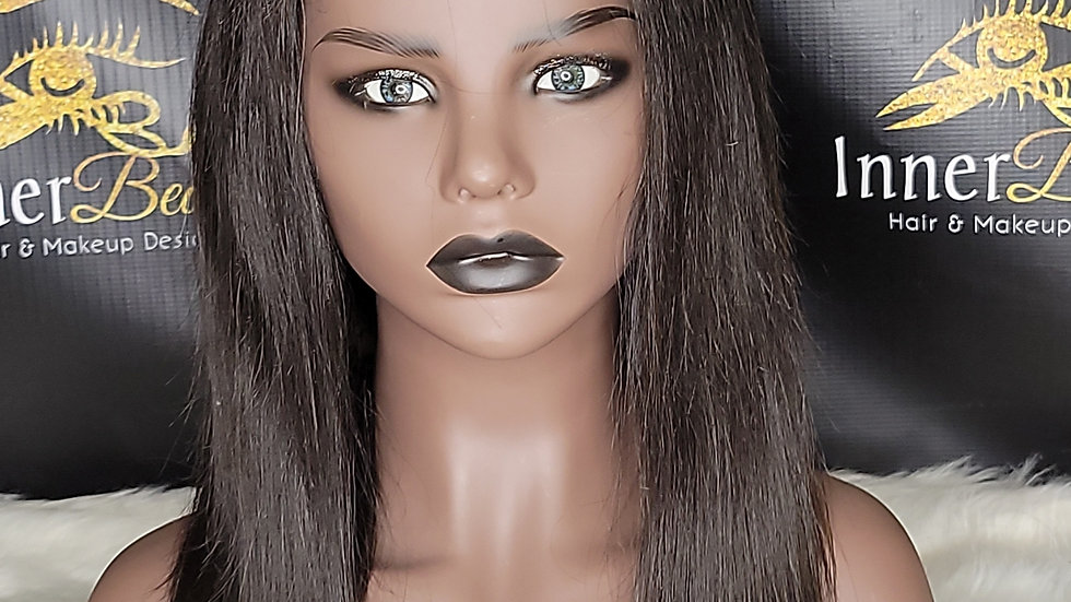 Long Straight 4x4 Lace Closure Wigs with Elastic Band
