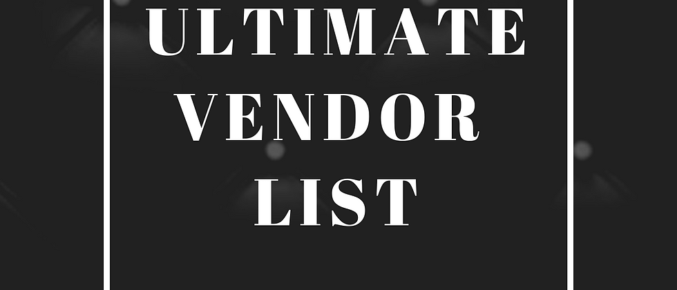 The Ultimate Vendor list E book digital download