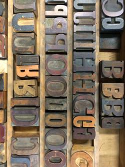 Artifact Press wood type