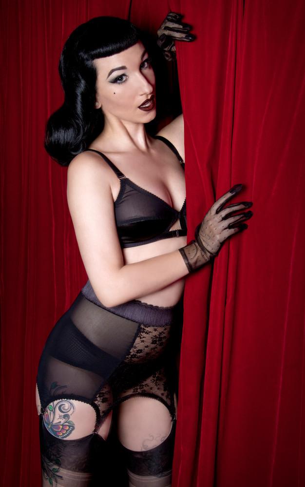 sheer black lace girdlette girdle by Pip & Pantalaimon
