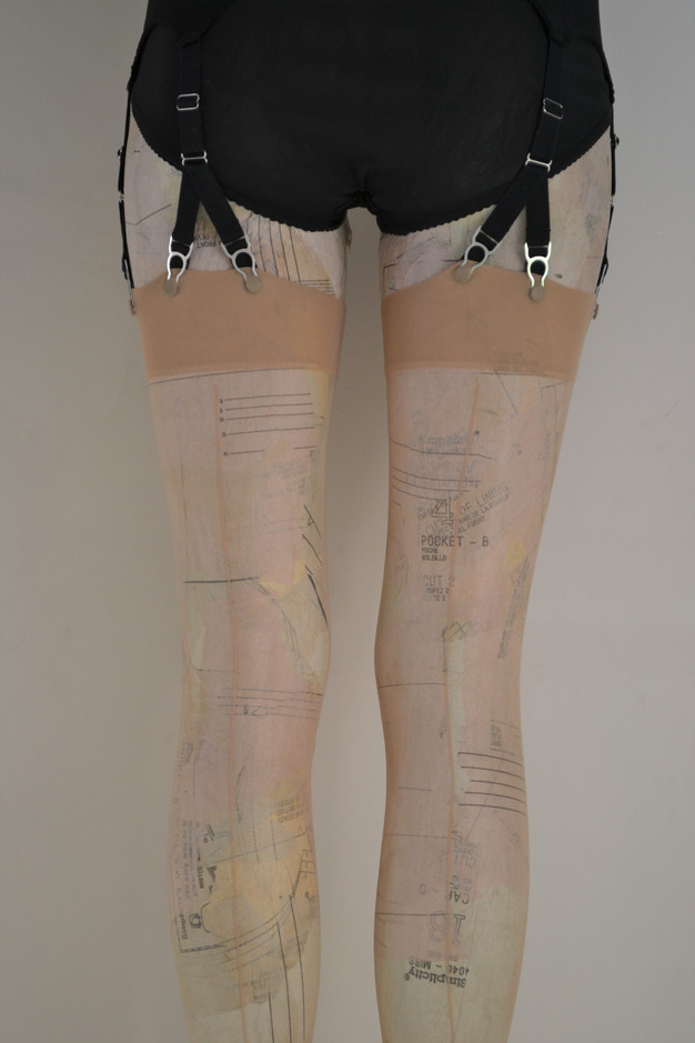 vintage seamed nylon stockings, in plus size by Pip & Pantalaimon