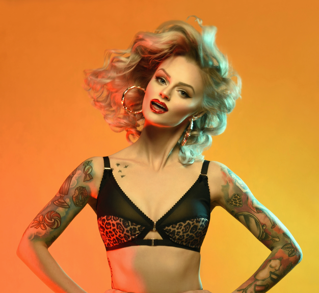 leopard print bra, made in england, available in plus size