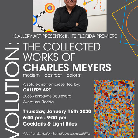 ARTIST CHARLES MEYERS BRINGS EVOLUTION TO GALLERY ART...
