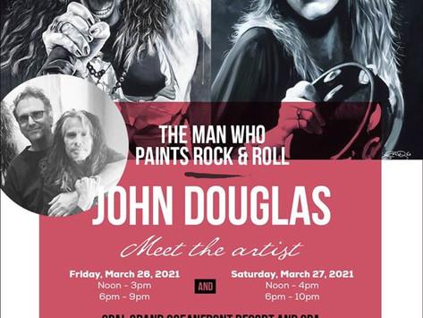 WORLD RENOWNED DRUMMER & ROCK & ROLL FINE ARTIST JOHN DOUGLAS TO APPEAR IN DELRAY BEACH 3/25-27.