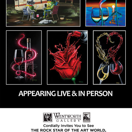 "MICHAEL GODARD, THE ""ROCKSTAR OF THE ART WORLD"" TO APPEAR AT THE WENTWORTH GALLERIES IN FLORIDA..."