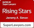 Jeremy Simon Super Lawyer Badge