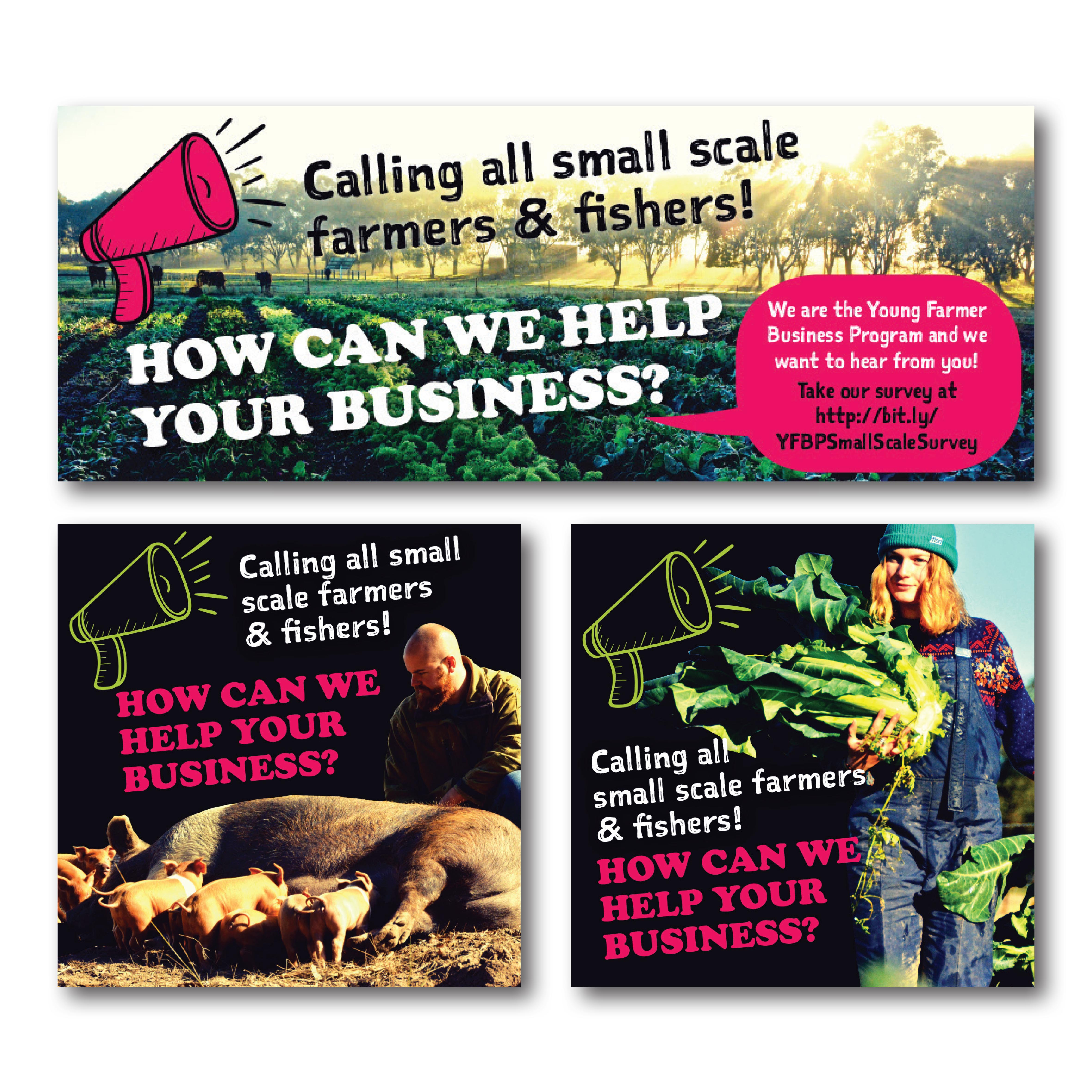 Young Farmers social media tiles