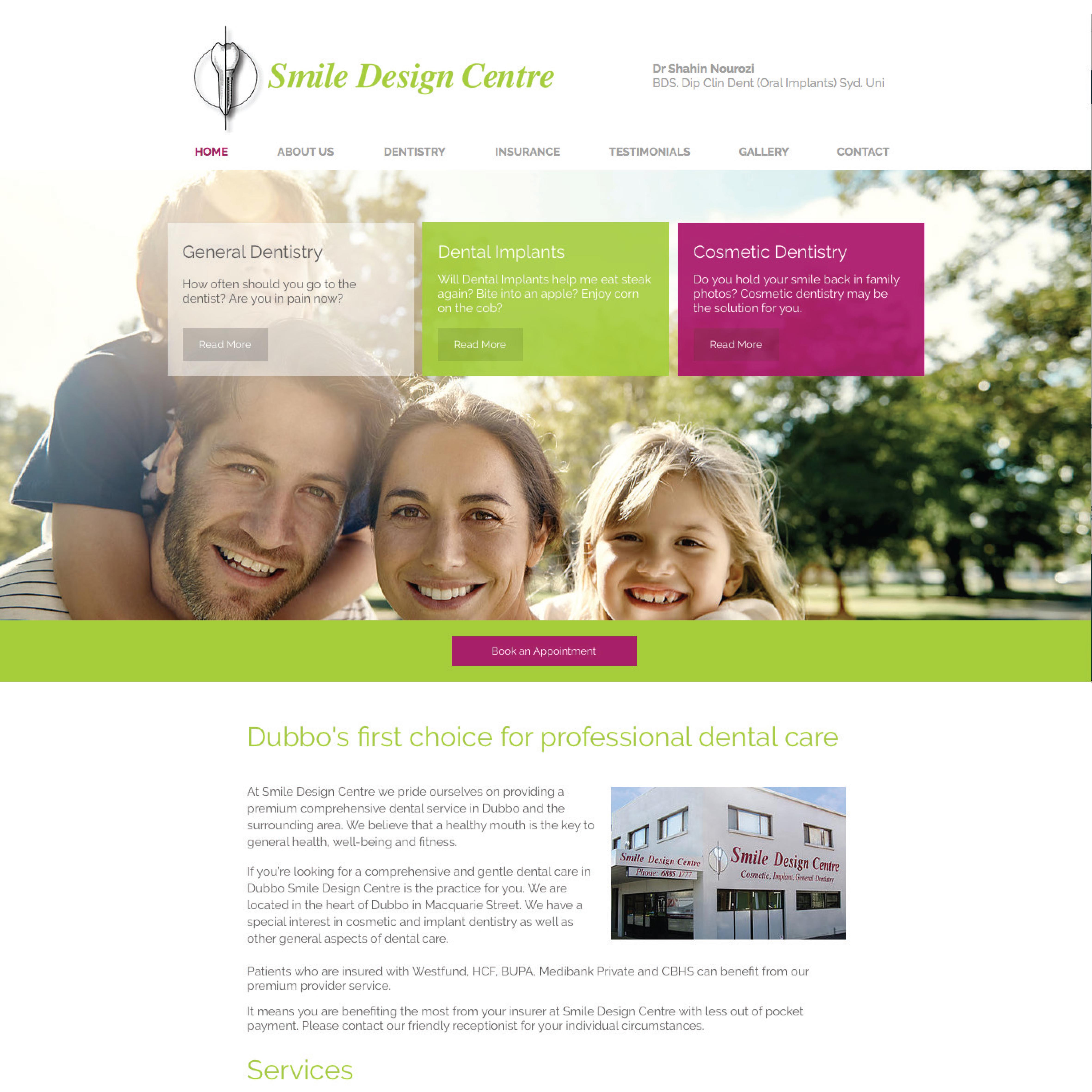 Smile Design Centre Website