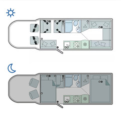 Day time and Night time floorpan