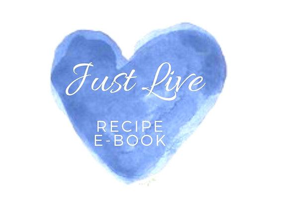 Just Live Recipe E-Book