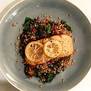 Health, holistic, natural, breast health, wellbeing, Tessa Hopson, BRCA, inspiration, nourish, empowerment, exercise, salmon, dinner, salmon recipe, couscous, kale