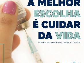 Vacina contra a Covid avança em Matão com 61.568 doses aplicadas