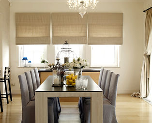 window coverings blinds shutters shades in living room dining room interior design