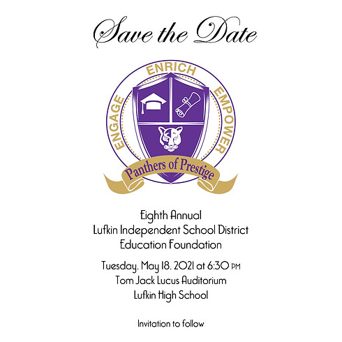 Lufkin Education Foundation 8th Annual Panthers of Prestige