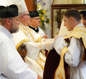 NZ Ordinations 12 - Vesting of Chasuble.
