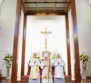 NZ Ordinations 15 - Ordinati with Bishop