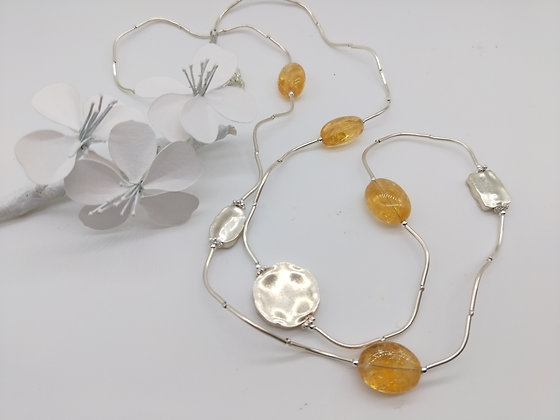 Liquid Silver and Citrine
