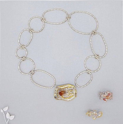 Avant Raw Citrine and Sapphire Collection