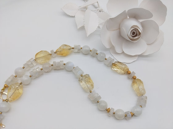 Opulence Citrine and Moonstone